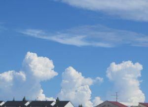 雲に見蕩れて
