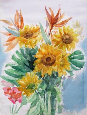 水彩(初夏の花)
